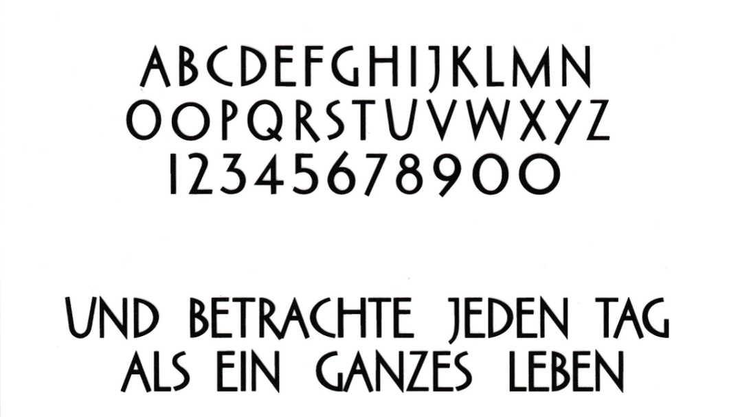 Schrift für Grabstein: Schriftart Grotesk
